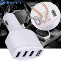 Ollivan Universal Car Charger For IPhone 7 Mini USB Quick Charge Cigarette Lighter Charger Adapter For
