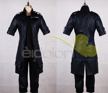 New Arrival Final Fantasy 15 The King Noctis Halloween Cosplay Costume Outfit PU Leather Jacket+Pants+Glove Custom for Any Size