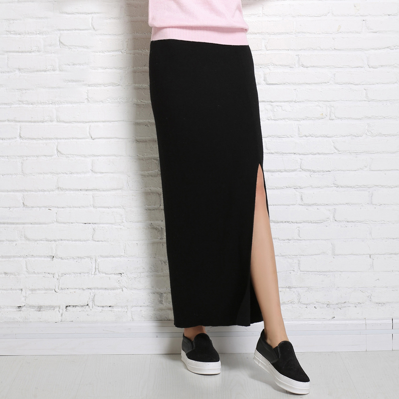 New 2018 Autumn Sprin Short Skirts Woman High Waist Woolen Skirt Female Pleated Skirt For Woman in Skirts from Women 39 s Clothing