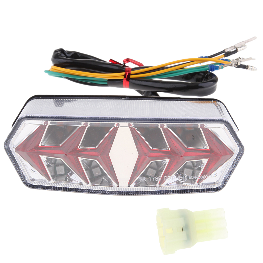Clear Lens Motorcycle Integrated LED Tail Light Lamp for Honda Grom MSX125 Motorcycle LED Brake Tail Light Clear LED Tail light
