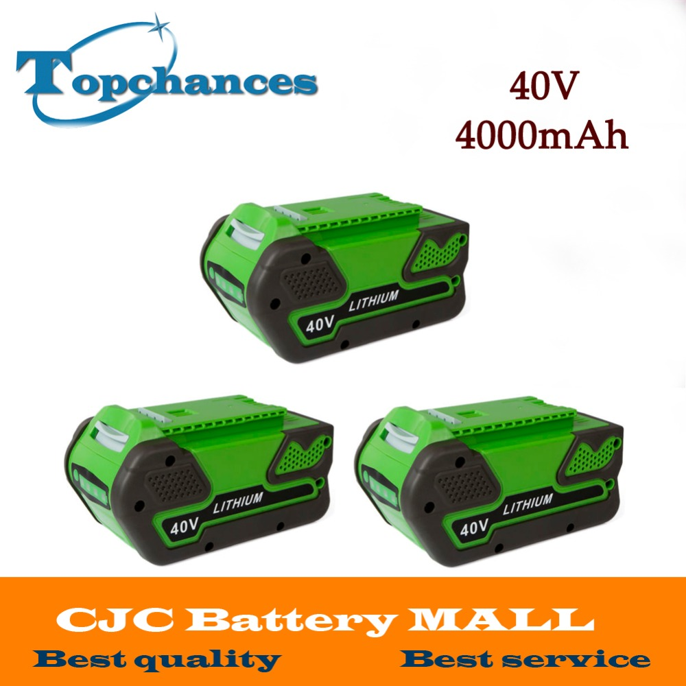 3x High Quality Newest 40V 4000mAh Replacement 40V 4.0AhLithium Battery for GreenWorks 29692 Gen1 Tools