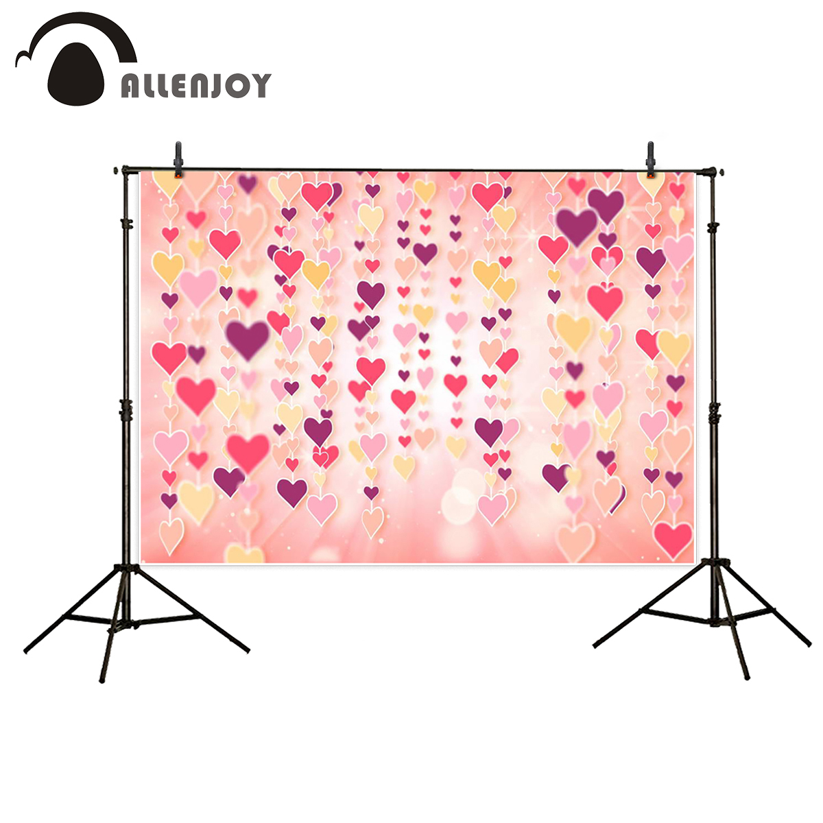 Allenjoy photography backdrops love pink romantic background photography wedding backdrop for Valentine's Day christmas backdrop 600cm 300cm valentine s day photography backdrops romantic love fireworks zj