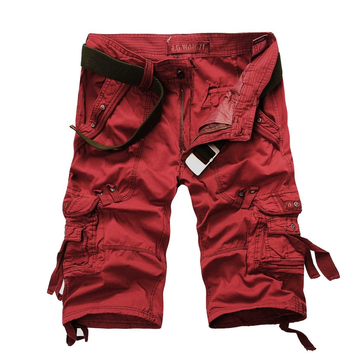Mens Mens Cargo Shorts Multi Pockets Short for Men Cargo Shorts 5820