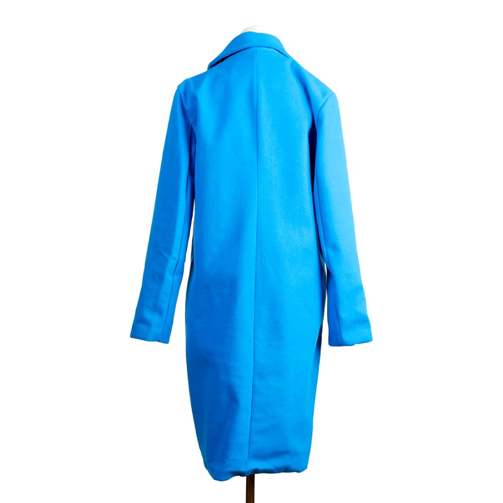 Women Autumn Winter Woollen Coat Long Sleeve Turn-Down Collar Oversize Blazer Outwear Jacket Elegant Overcoats Loose Plus Size 8