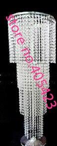 4 слоя Акриловые Кристалл Свадебный Centerpiece/Дорога ведущий кадров/Настольный стенд цветок полка с H90cm (не включают цветок) 10 шт.