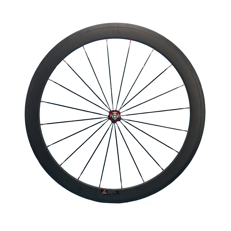 700C Full Carbon Road Bike Wheel 50mm Deep Novatec Powerway Hub in 20 Holes Front Bicycle Wheel only 3K Matte Finish