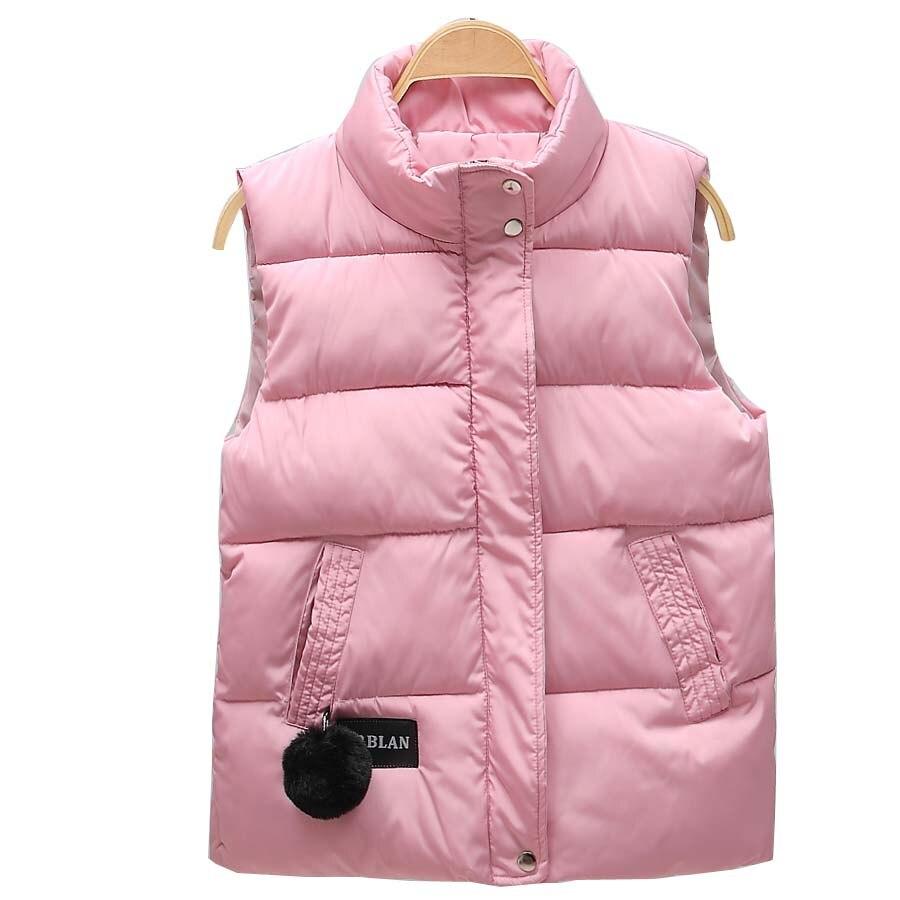 2019 automne hiver femmes gilet col Mandarin sans manches court manteau femmes veste gilet femme grande taille chalecos para mujer