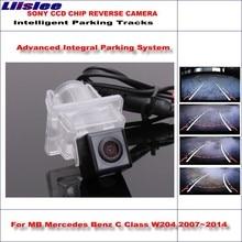 цена на Liislee Dynamic Guidance Rear Camera For Mercedes Benz C Class W204 2007~2014 580 TV Lines HD 860 Pixels Parking Intelligentized