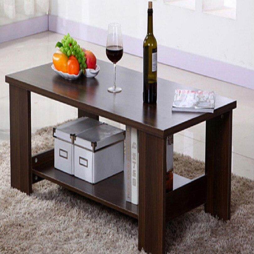 Table basse carrée ovale de 80*40CM pour la table de chevet de table basse latérale de salon - 4