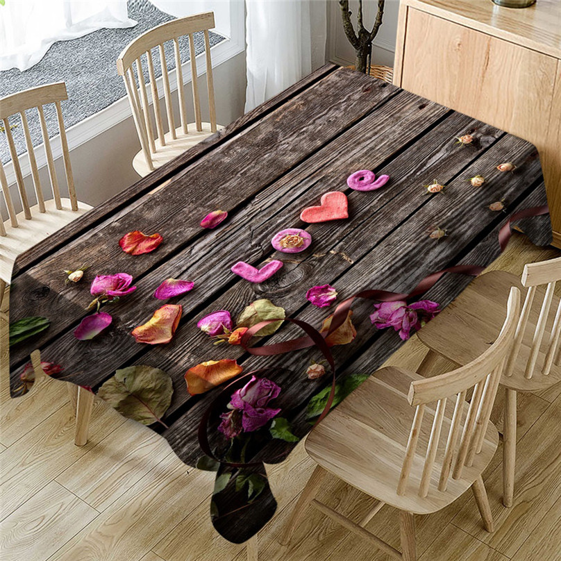 Wedding Valentine`s Day romantic 3D tablecloth table cloth Dinner for Family Party Home Decortion 2019 NEW table cloth #5J07 (1)