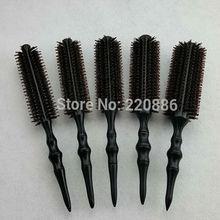 Professional Wooden Hair Brush Boar Bristles Mix Nylon Hairdressing Styling Round Comb Brush GIC-HB568 (5pcs/set) Free Shipping