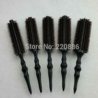 Professional Wooden Hair Brush Boar Bristles Mix Nylon Hairdressing Styling Round Comb Brush GIC HB568 5pcs