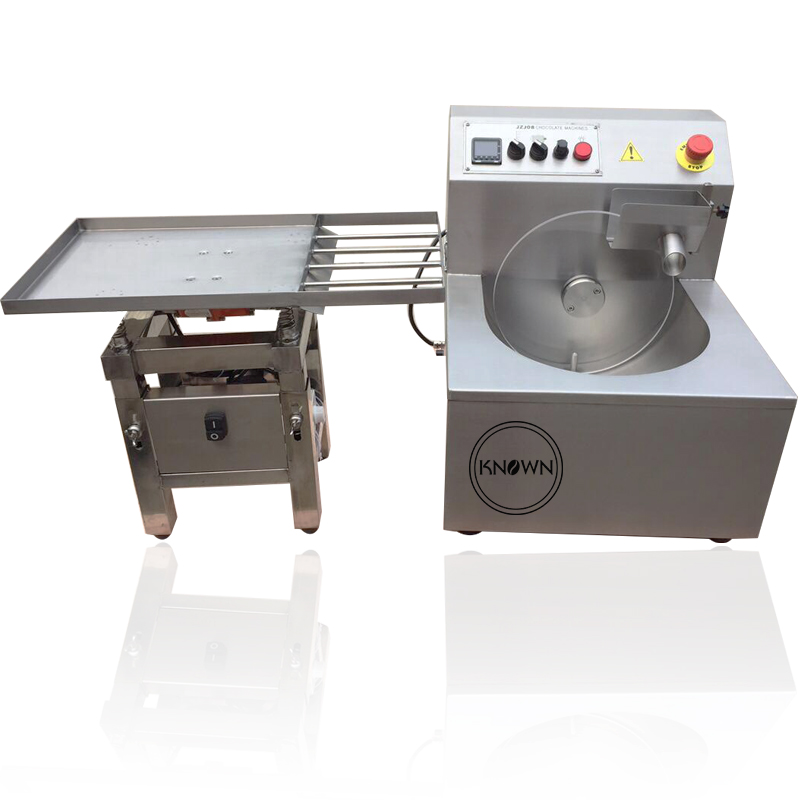 Commercial Chocolate Tempering Pouring Machine With Vibrating Table