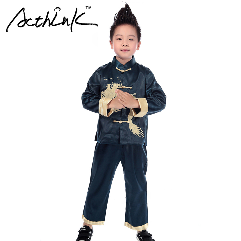 Acthink New Baby Boys Embroidery Dragon Chinese