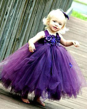 Princess Flower Girls' Dresses For Party and Wedding Flowers Girls Ball Gowns 2016 Baby Pageant Gowns Kids Communion Dresses