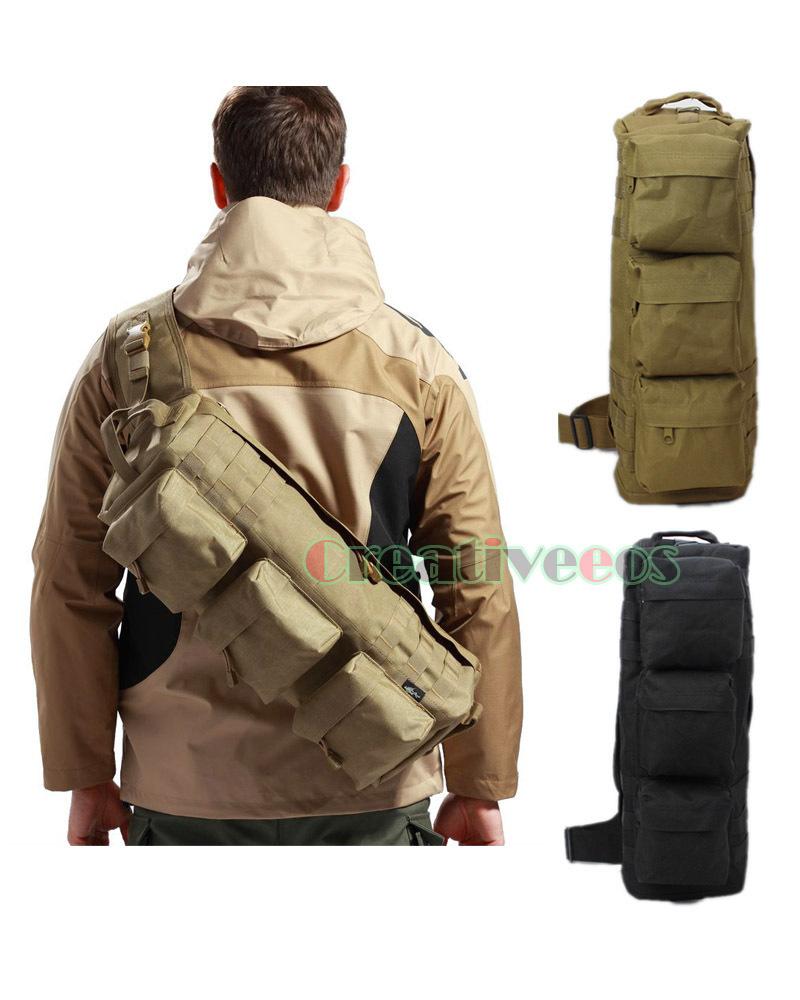 Prix pour Nouveau hommes nylon voyage militaire messenger épaule back pack sling poitrine aéroporté molle paquet sac