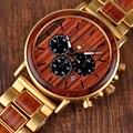 BOBO pájaro relojes hombres cronómetro relojes hombre relojes de pulsera de madera hombre Show fecha erkek kol saati en caja de regalos