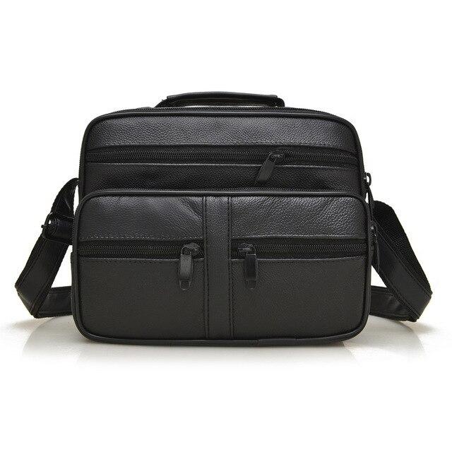 Boutique! Latest high quality genuine leather man bag fashion trend of classic sheepskin shoulder bag messenger bag small travel