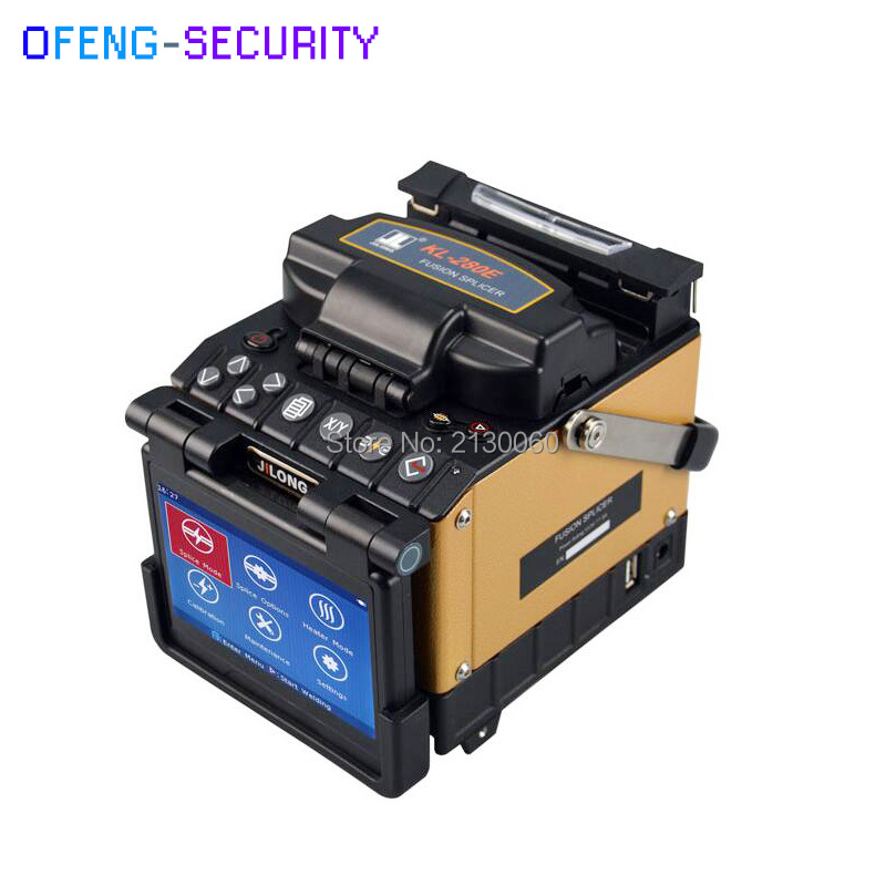 100% Original JiLong Fiber Optic Fusion Splicer KL-280E Including Cleaver Stripper And Carrying Case