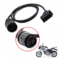 用bmw icom dケーブルICOM-DオートバイMotobikes10Pinへ16pin obd2 obdii診断ケーブル私comツールケーブル