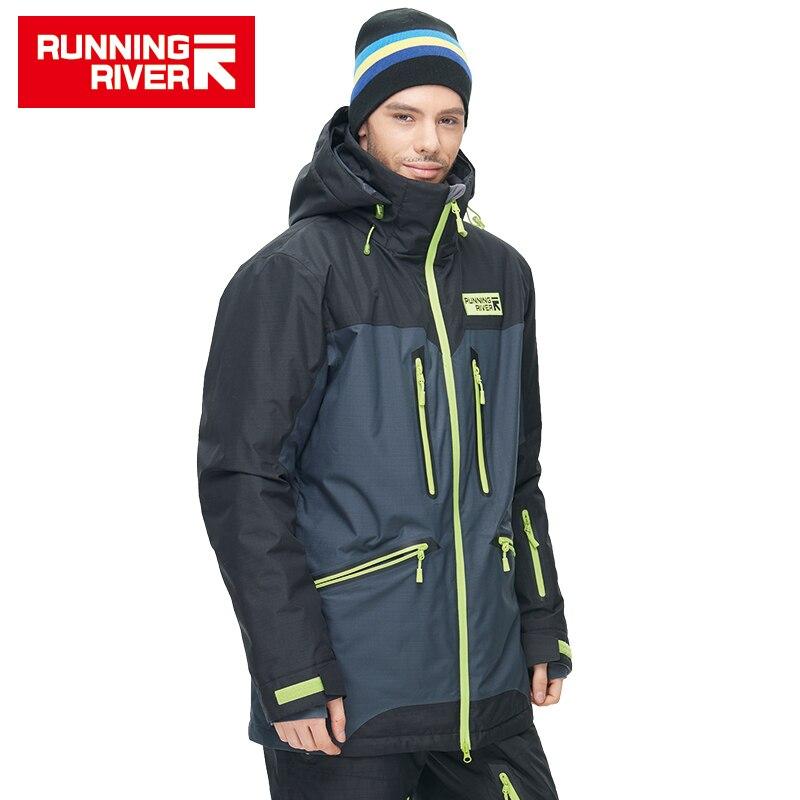 RUNNING RIVER marca de alta calidad de los hombres de invierno chaqueta de esquí 4 colores 6 tamaños caliente deporte ropa al aire libre para hombre de esquí chaquetas # N6419