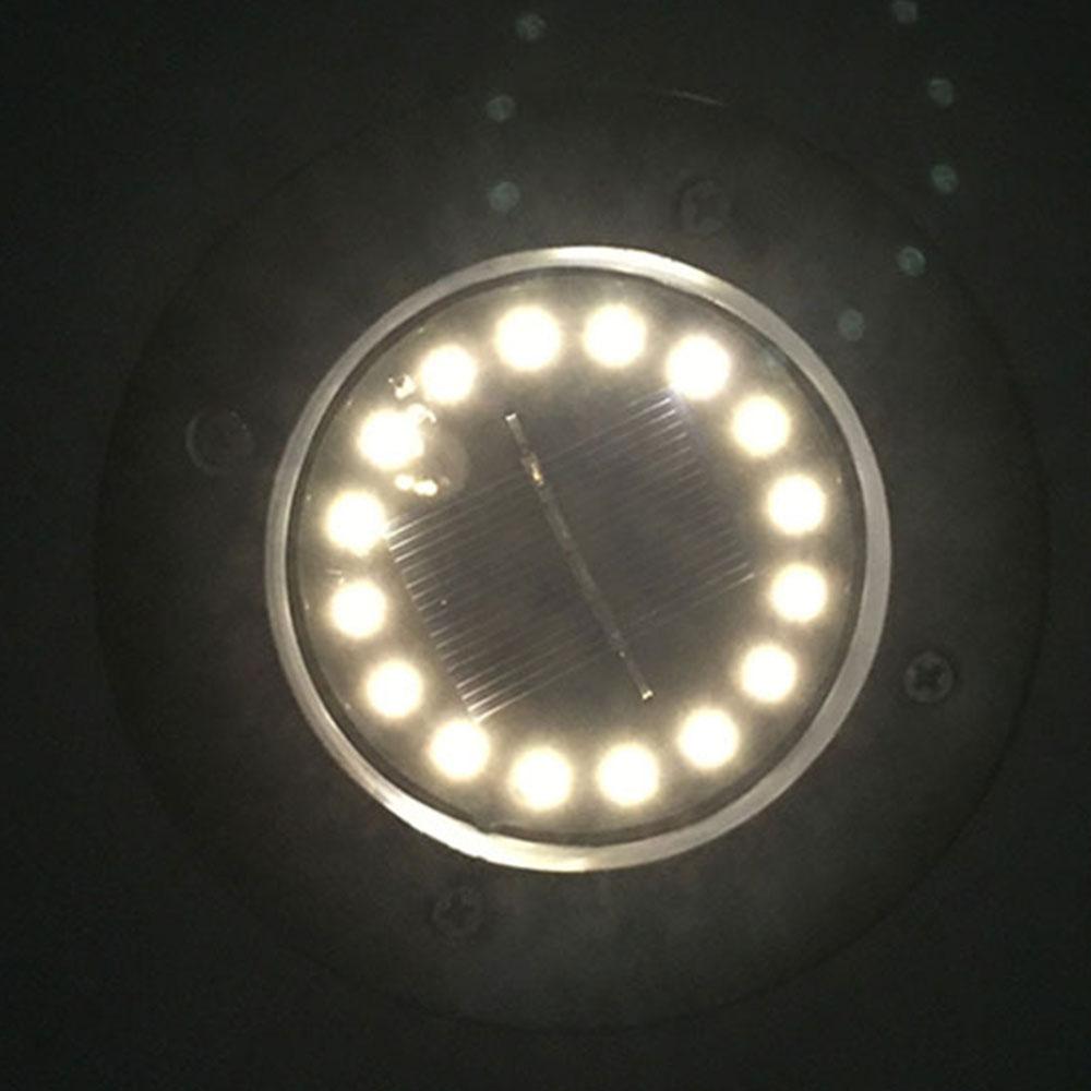 16 Светодиодный светильник на солнечной энергии садовый настил, погребенный свет, напольный наземный светильник, прочные огни безопасности, ландшафтный свет, садовый светильник