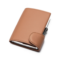 BYCOBECY 2019 New Card Holder Brown Black Fashion Wallet for Men and Women PU Leather High Quality Business Single Box