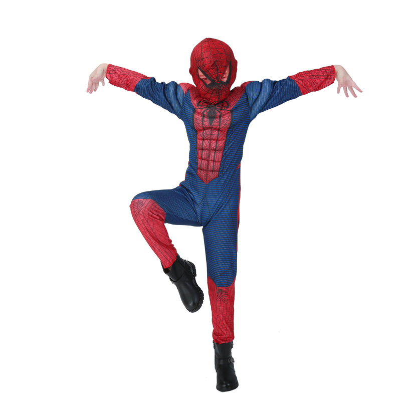 DJGRSTER Spiderman Costume Red Black Spider Man Suit Spider-man Costumes Children Kids Spider-Man Halloween Cosplay Clothing