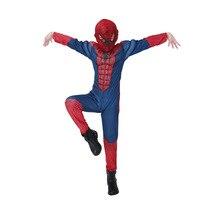 DJGRSTER Spiderman Costume Red Black Spider Man Suit Spider Man Costumes Children Kids Spider Man Halloween