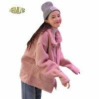 Women Winter Jacket Casual Large size Loose Coat 2019 Latest Fashion Student Female Jacket Lamb hair Thick Warm Coat Women OK699