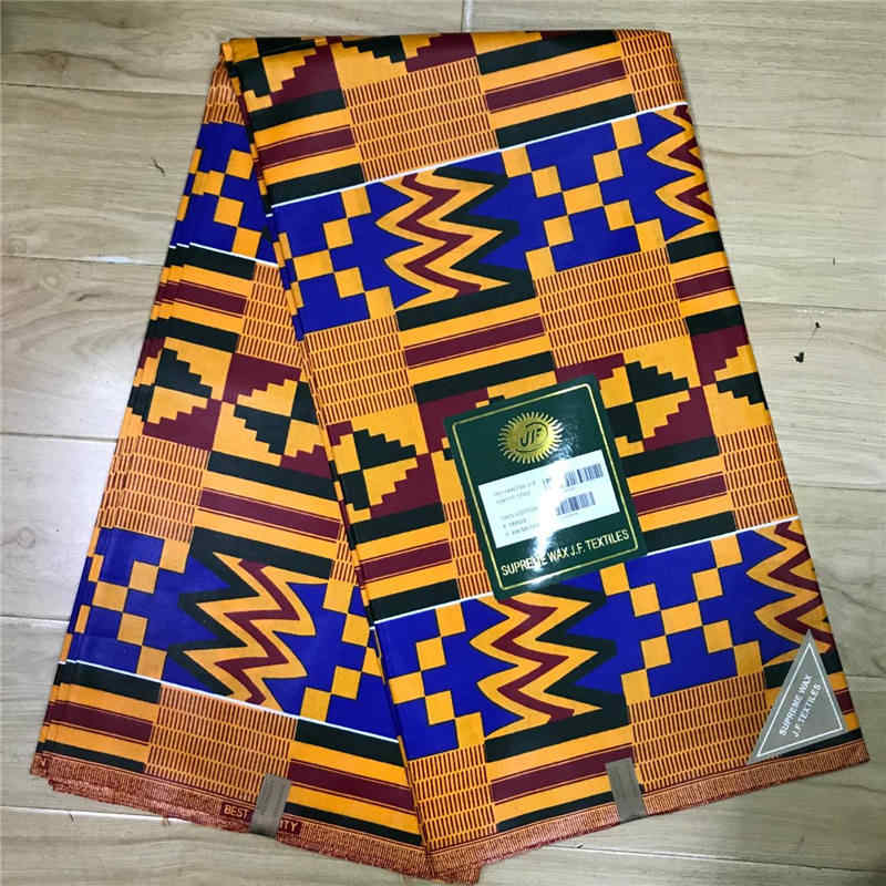 2019 Cotton/Polyester Nigerian Chitenge Ankara Fabric Ghana Kente Wax  African Kitenge Print Fabric For Cloth in 6 yards-WD30