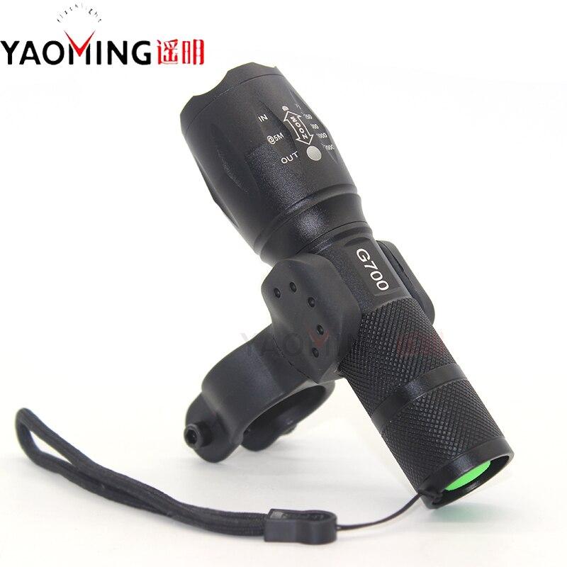 G700 Cykellys CREE XM-L T6 3800LM Cree LED Vandtæt Taktisk - Bærbar belysning