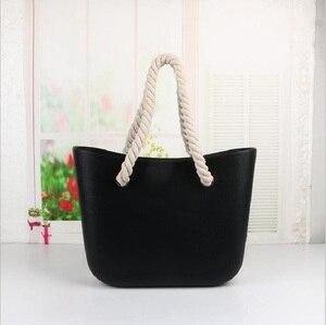 Image 2 - Mini bolsa de mão e ombro feminina de compras em silicone clássica com acabamento impermeável para uso noturno