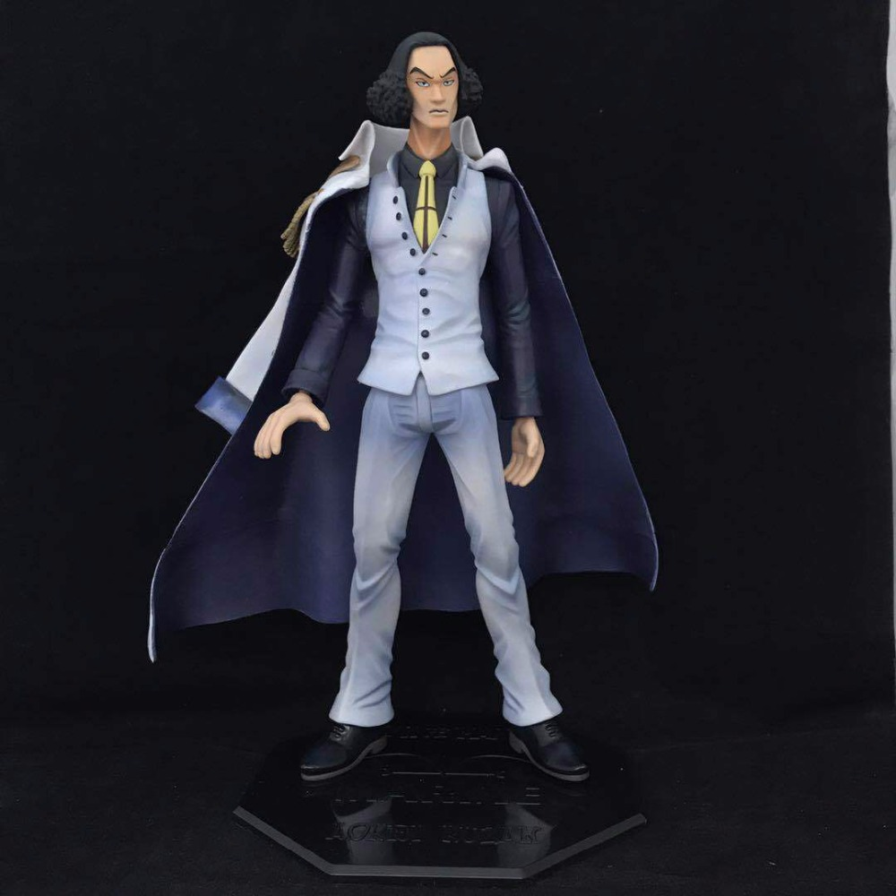 Free Shipping 11 One Piece Anime P.O.P EX Navy Senior General Aokiji Kuzan Boxed 27cm PVC Action Figure Model Doll Toys Gift