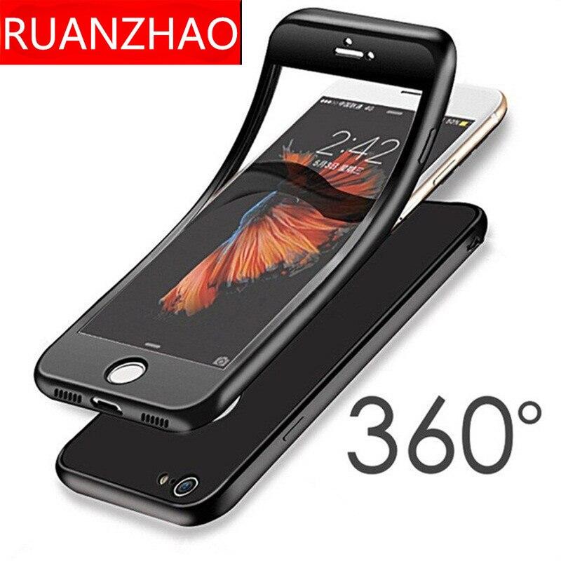 005711e3aa 360 Degree Soft TPU Silicon Case for iPhone X 6s Plus 7 Plus 8 Cover  Silicone Full Cover For iPhone X 8 Plus 7 6 plus Cases 5 SE