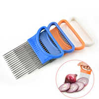 Kitchen Onion Slicer Cut Onion Holder Fork Tomato Vegetable Slicer Cutting Aid Guide Holder Fruit Cutter Cooking Accessories