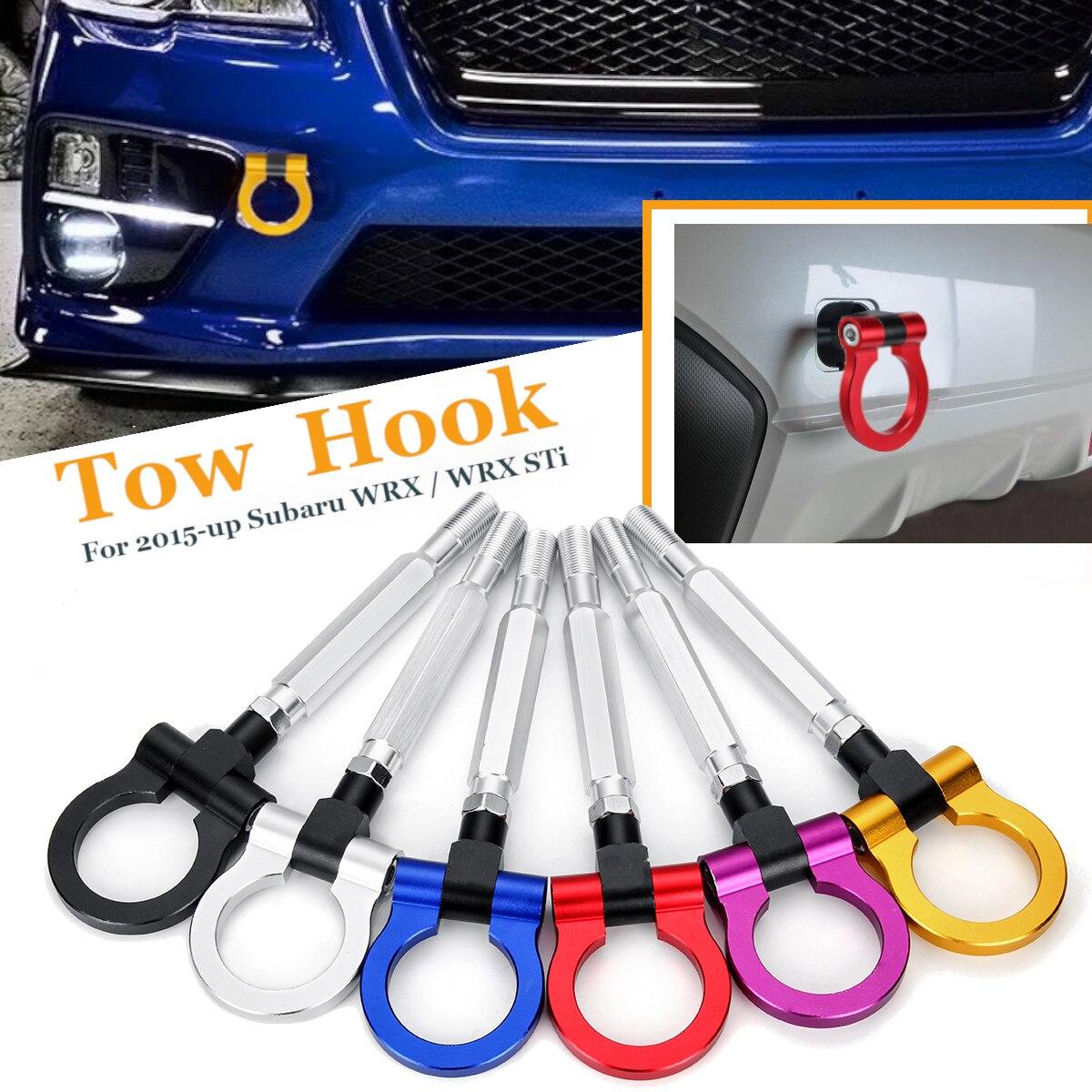 Universal Car Tow Towing Hook Ring Racing Aluminum Front Rear for Subaru WRX STI BRZ 2015-upUniversal Car Tow Towing Hook Ring Racing Aluminum Front Rear for Subaru WRX STI BRZ 2015-up