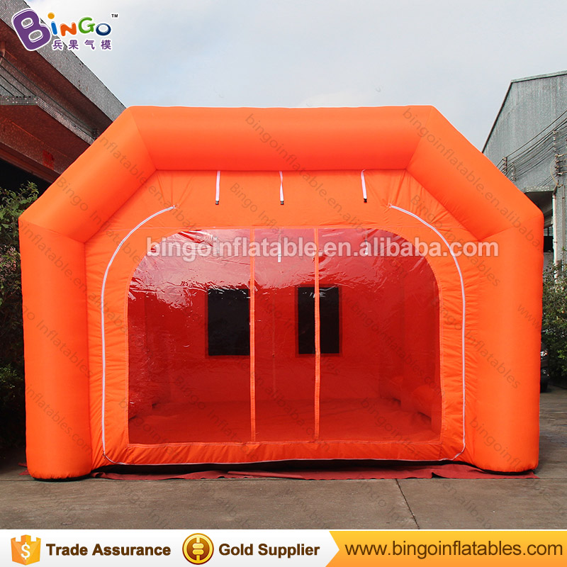 все цены на 32.8ft x 16.4ft x 11.5ft inflatable automotive spray booth / air powder coating spray booth / spray booth car painting toy tent онлайн
