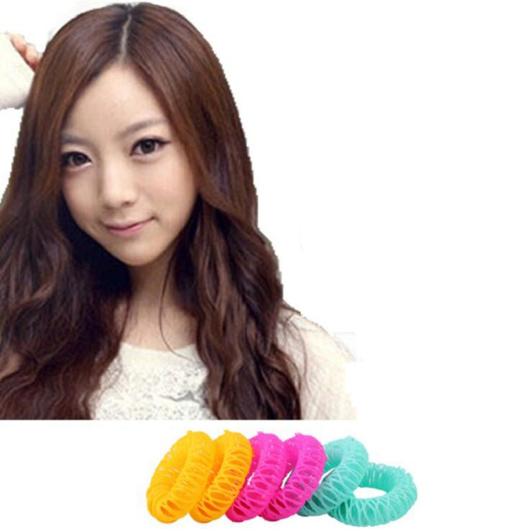 hair curler Roll roller Twist Hair Care Styling stick Roller DIY tools harmless safe plastic for lady girls round Small
