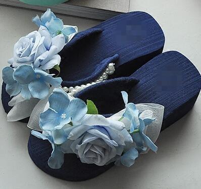 cc8252d41 2018 Summer Style Rose Flower Sandals Women s Shoes Cheap High Heeled  Wedges Buy Platform Flip Flops Slippers Hot Sale Online