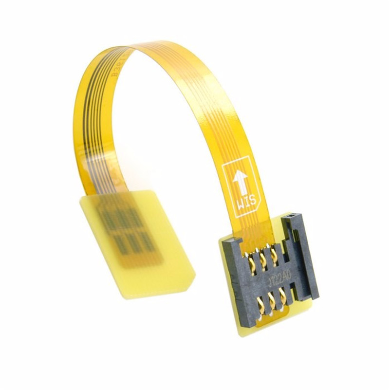 где купить Free Shipping tracking number GSM CDMA Standard UIM SIM Card Kit Male to Female Extension Soft Flat FPC Cable Extender 10cm по лучшей цене