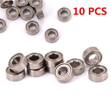 10 PCS MR63ZZ Practical Mini Steel Roller Bearings High Speed Seat Miniature Model Bearing Steel Shafts 3*6*2.5mm(China)