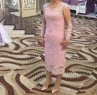 Одежда с длинным рукавом с аппликацией Длинные Простой Элегантный кружево Мать невесты платья для женщин свадеб 2019 халат de soiree madrinha