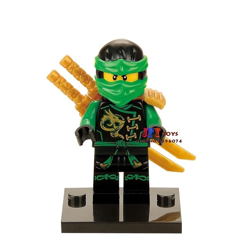 50pcs superhero Lloyd Gold building blocks bricks friends for girl kids children toys brinquedos menina