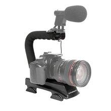 Commlite-CS-MVX Universal Triple Shoe Mount Video Action Stabilizing Handle Grip Rig for Canon Sony DV DSLR Camera
