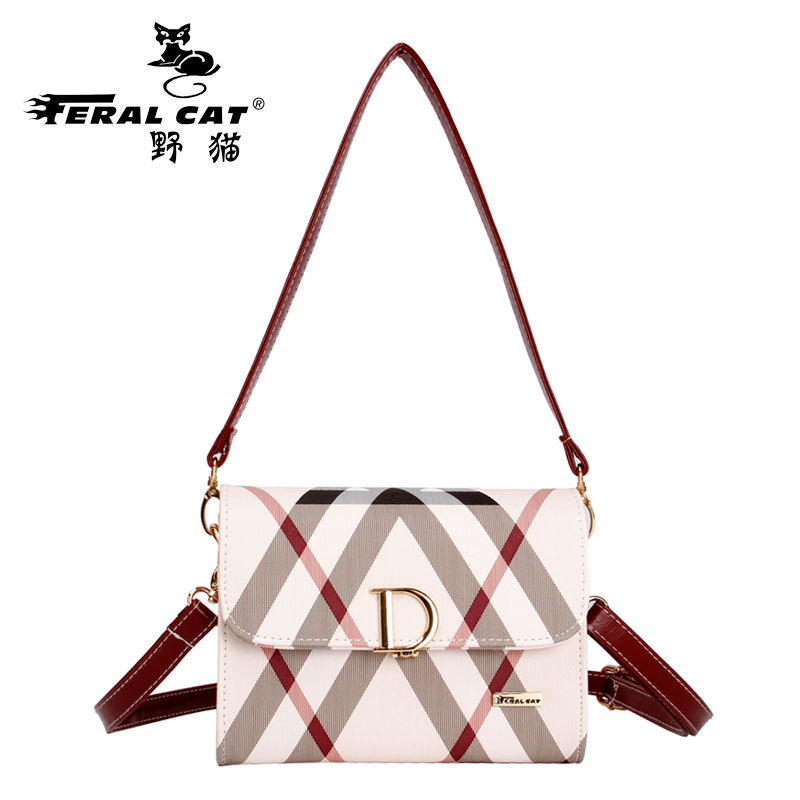 FERAL CAT Women Shoulder Messenger Bags 2017 Pvc Plaid Ladies Plaid Clutch Handbags Vintage Crossbody Envelope Bag Female Bolso feral cat women shoulder messenger bags 2017 pvc plaid ladies plaid clutch handbags vintage crossbody envelope bag female bolso