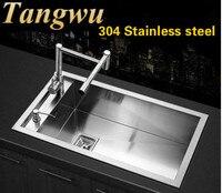 Nice Vegetable Washing Basin Single Slot 304 Stainless Steel Kitchen Sink Sink Manual On Stage