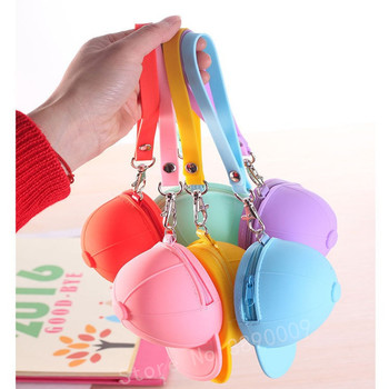 Free shipping Fashion Korean Cute Hat Bag Cartoon Girls Bags Keychains Children Creative Simple Candy Colors Kids Purse Keychain