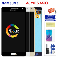 original a500 amoled samsung GALAXY a5 2015 lcd super amoled digitizer assembly screen replacement for A500FU A500 A500F A500M