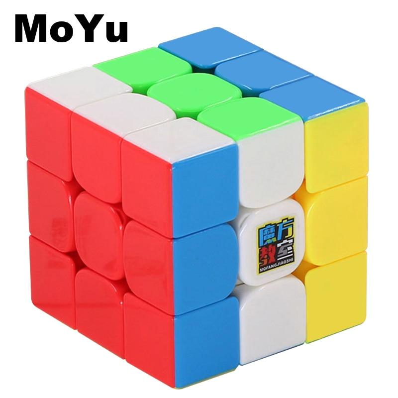 MOYU Magic Cube Professional 3x3x3 Rapid Rotation Speed Cube Educational Toys For Children Cubo Magico Classic Kids Toys MF3SET